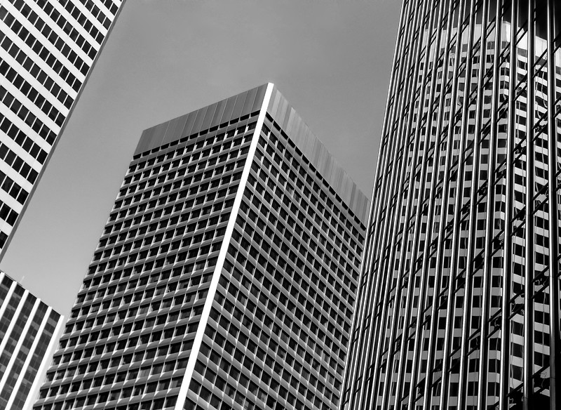 Buildings and reflections. (Photograph by Shalimar)