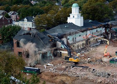 Trenton Central High School demolition 10/8/15