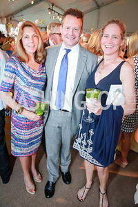 Kathleen Thomas, Tim Cooney, Katie Gewirz. Photo by Alfredo Flores. Tudor Place Garden Party. Tudor Place Historic House and Garden. May 21, 2014.