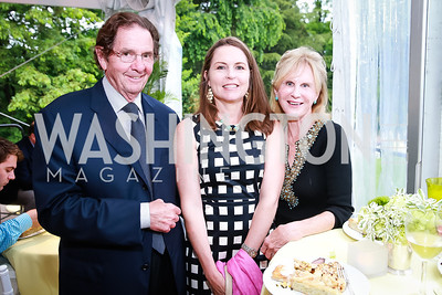 Ray Clevenger, Carolyn Schafer, Leslie Clevenger. Photo by Alfredo Flores. Tudor Place Garden Party. Tudor Place Historic House and Garden. May 21, 2014.
