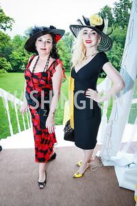 Rhoda Septilici, Ioana Lee. Photo by Alfredo Flores. Tudor Place Garden Party. Tudor Place Historic House and Garden. May 21, 2014.