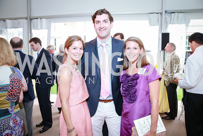 Mary Keaney, Terrence Keaney, Elizabeth Powell. Photo by Alfredo Flores. Tudor Place Garden Party. Tudor Place Historic House and Garden. May 21, 2014.