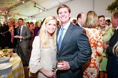 Kristy Akers, Scott Akers. Photo by Alfredo Flores. Tudor Place Garden Party. Tudor Place Historic House and Garden. May 21, 2014.