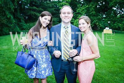 Ben Nauman, Darcy Nauman, Mary Keaney. Photo by Alfredo Flores. Tudor Place Garden Party. Tudor Place Historic House and Garden. May 21, 2014.