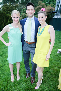 Laura Gaylord, Ben Webne, Hope Solomon. Photo by Alfredo Flores. Tudor Place Garden Party. Tudor Place Historic House and Garden. May 21, 2014.