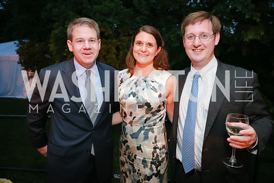 Jeff Grappone, Eleni Roumel, Matt Leggett. Photo by Alfredo Flores. Tudor Place Garden Party. Tudor Place Historic House and Garden. May 21, 2014