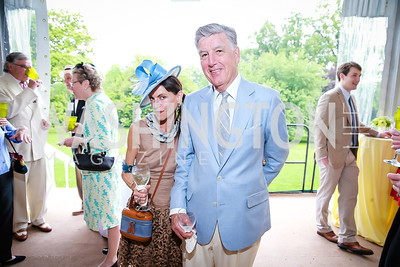 Barbara Crocker, Frank Randolph. Photo by Alfredo Flores. Tudor Place Garden Party. Tudor Place Historic House and Garden. May 21, 2014.