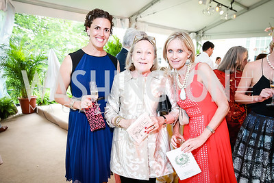 Amanda Bowker, Louise Schwebel, Amy Porter Stroh. Photo by Alfredo Flores. Tudor Place Garden Party. Tudor Place Historic House and Garden. May 21, 2014.