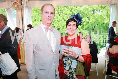 Jim Huck, Jeanne Defliese. Photo by Alfredo Flores. Tudor Place Garden Party. Tudor Place Historic House and Garden. May 21, 2014.