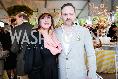 Erin DiSerafino, Thomas Mark Anthony. Photo by Alfredo Flores. Tudor Place Garden Party. Tudor Place Historic House and Garden. May 21, 2014.