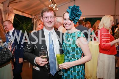 Matt Leggett, Melissa Vap. Photo by Alfredo Flores. Tudor Place Garden Party. Tudor Place Historic House and Garden. May 21, 2014