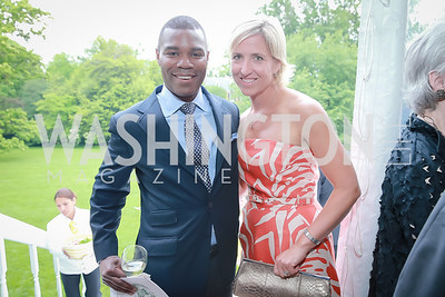Dylan Glenn, Cathie Martin. Photo by Alfredo Flores. Tudor Place Garden Party. Tudor Place Historic House and Garden. May 21, 2014.