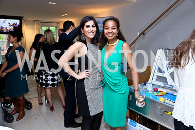 Sarah Alshawwaf, Kalizya Hutchinson. Photo by Tony Powell. UNICEF Syrian Children Fundraiser. Langhorne residence. June 4, 2014