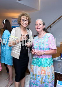 Deanna Bittker, Susan Peters. Photo by Tony Powell. UNICEF Syrian Children Fundraiser. Langhorne residence. June 4, 2014
