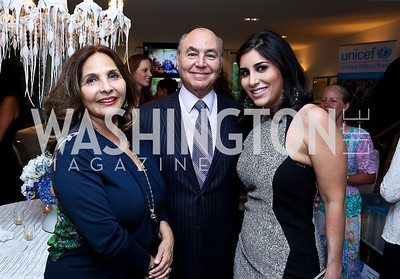Samia and Houda Farouki, Sarah Alshawwaf. Photo by Tony Powell. UNICEF Syrian Children Fundraiser. Langhorne residence. June 4, 2014
