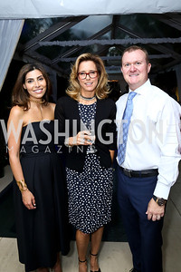 Samar Langhorne, Tea Leoni, William Langhorne. Photo by Tony Powell. UNICEF Syrian Children Fundraiser. Langhorne residence. June 4, 2014