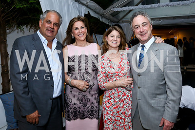 Wahid and Luma Hakki, Mary Louise and Bruce Cohen. Photo by Tony Powell. UNICEF Syrian Children Fundraiser. Langhorne residence. June 4, 2014