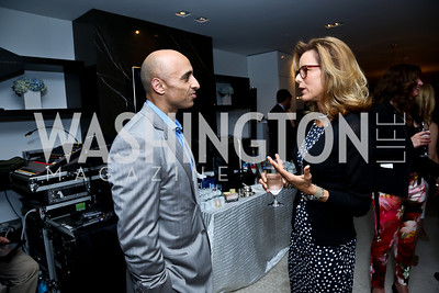 UAE Amb. Yousef Al Otaiba, Tea Leoni. Photo by Tony Powell. UNICEF Syrian Children Fundraiser. Langhorne residence. June 4, 2014