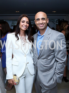 Abeer Al Otaiba and UAE Amb. Yousef Al Otaiba. Photo by Tony Powell. UNICEF Syrian Children Fundraiser. Langhorne residence. June 4, 2014