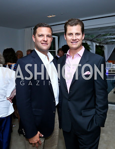 Greg Lubar, John Cecchi. Photo by Tony Powell. UNICEF Syrian Children Fundraiser. Langhorne residence. June 4, 2014