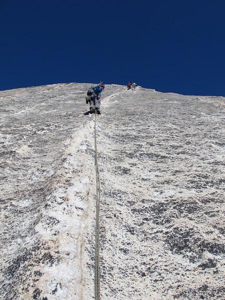 23/10/13 Claire dike hiking on Snake Dike. 1 bolt per 20 metres.