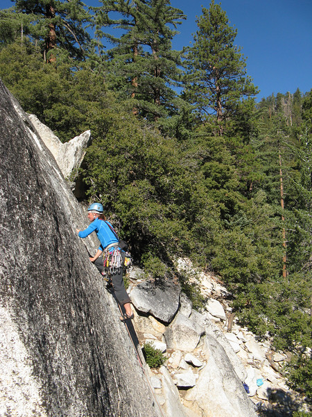 6/11/13 Fingercrack warm up in the sun for our last day climbing.