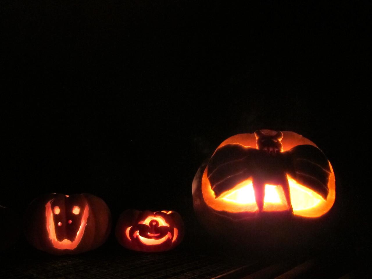 31/10/13 Halloween pumkins carved by us.