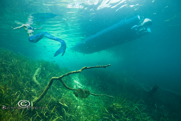 Mermaid on the Rainbow River, Florida - Photo by Pat Bonish