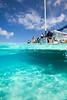 Stingray swimming under the Catamaran - Caymen Islands - Photo by Pat Bonish