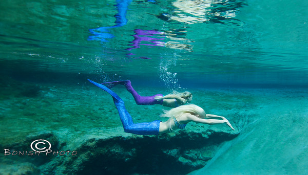 Blue Springs and the Mermaids - Photo by Pat Bonish, Bonish Photo