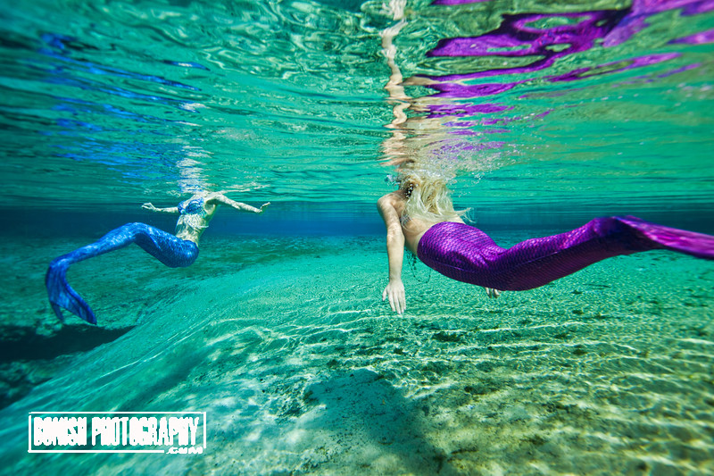 Playing with the Mermaids in Blue Springs Florida - Photo by Pat Bonish