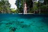 Split Shot in 3 Sisters Spring, Crystal River Florida - Underwater Photo by Pat Bonish