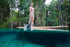 Paddling through 3 Sisters Spring, Crystal River Florida - Underwater Photo by Pat Bonish