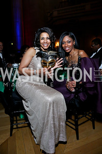Sheri Tate, Tia Rice. Photo by Tony Powell. UNCF Masked Ball. Mellon Auditorium. March 27, 2014