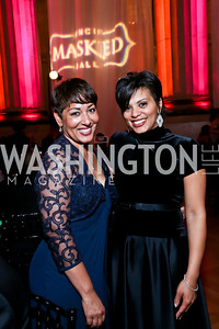 Gerri Mason Hall, Tiffany Rose. Photo by Tony Powell. UNCF Masked Ball. Mellon Auditorium. March 27, 2014