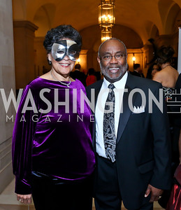 Charlene Drew Jarvis, Mayor of Alexandria Bill Euille. Photo by Tony Powell. UNCF Masked Ball. Mellon Auditorium. March 27, 2014