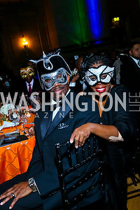 Melvin Williams, Karen Casey. Photo by Tony Powell. UNCF Masked Ball. Mellon Auditorium. March 27, 2014