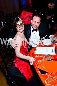 Heather and David Traina. Photo by Tony Powell. UNCF Masked Ball. Mellon Auditorium. March 27, 2014