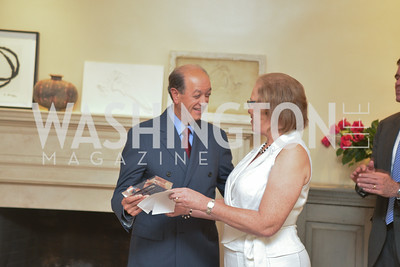 Mario Marino, Carol Thompson Cole, A Celebration of Venture Philanthropy Partners at the home of Jack Davies and Kay Kendall, Wednesday June 18, 2014.  Photo by Ben Droz.