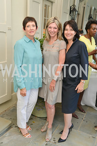 Pam Hanlon, Kay Kendall, Karen Schaufeld,  A Celebration of Venture Philanthropy Partners at the home of Jack Davies and Kay Kendall, Wednesday June 18, 2014.  Photo by Ben Droz.