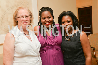 Carol Thompson Cole, Geraldine Bolden, Heather Wathington, A Celebration of Venture Philanthropy Partners at the home of Jack Davies and Kay Kendall, Wednesday June 18, 2014.  Photo by Ben Droz.