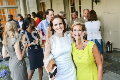 Kate Goodall, Eleanor Rutland,A Celebration of Venture Philanthropy Partners at the home of Jack Davies and Kay Kendall, Wednesday June 18, 2014.  Photo by Ben Droz.