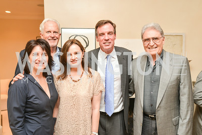 Karen Schaufeld, Jack Davies, Gabrielle Smith, Senator Mark Warner, Bill Melton,A Celebration of Venture Philanthropy Partners at the home of Jack Davies and Kay Kendall, Wednesday June 18, 2014.  Photo by Ben Droz.