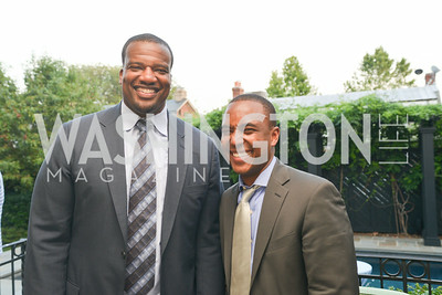 Derrick Dockery, Bernard Holloway, A Celebration of Venture Philanthropy Partners at the home of Jack Davies and Kay Kendall, Wednesday June 18, 2014.  Photo by Ben Droz.