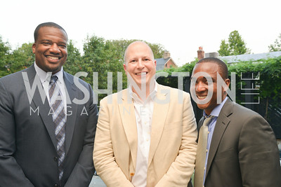 Derrick Dockery, Matt Kirtland, Bernard Holloway, A Celebration of Venture Philanthropy Partners at the home of Jack Davies and Kay Kendall, Wednesday June 18, 2014.  Photo by Ben Droz.