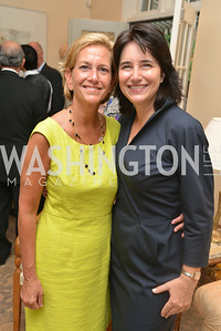 Eleanor Rutland, Karen Schaufeld,  A Celebration of Venture Philanthropy Partners at the home of Jack Davies and Kay Kendall, Wednesday June 18, 2014.  Photo by Ben Droz.