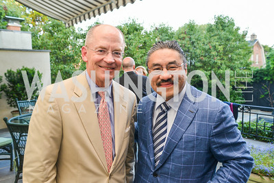 David Lawson, Bob Hisaoka, A Celebration of Venture Philanthropy Partners at the home of Jack Davies and Kay Kendall, Wednesday June 18, 2014.  Photo by Ben Droz.