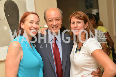 Suzy Twohig, Mario Marino, Victoria Urana,  A Celebration of Venture Philanthropy Partners at the home of Jack Davies and Kay Kendall, Wednesday June 18, 2014.  Photo by Ben Droz.