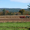 Kayla Rice/Reformer<br /> A tractor drives through a field at the Vern-Mont Farm in Vernon.