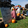 Kayla Rice/Reformer<br /> A pumpkin scarecrow display at the Vern-Mont Farm in Vernon.